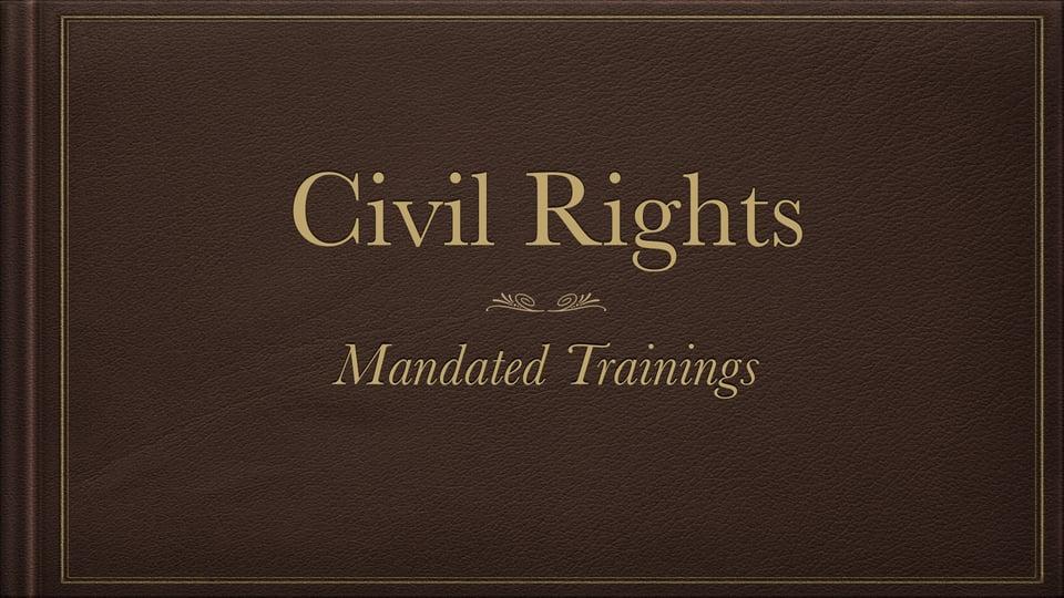 Civil Rights Training – Vimeo thumbnail