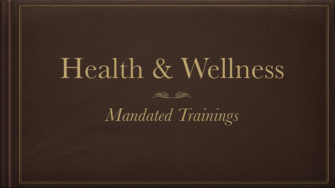 Health & Wellness Training – Vimeo thumbnail