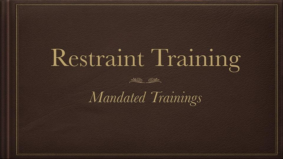 Restraint Training – Vimeo thumbnail