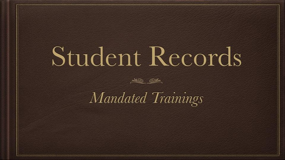 Student Records – Vimeo thumbnail